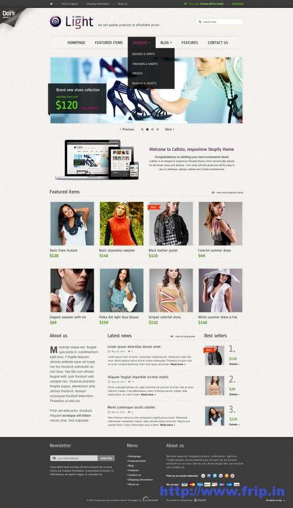 Callisto Premium Responsive Shopify Theme