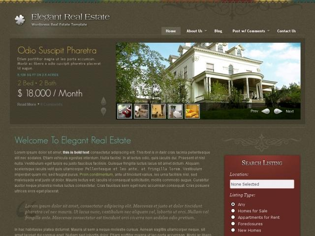 Elegant Real Estate By Themeforest