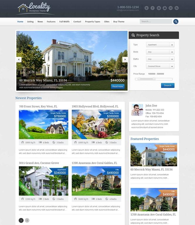 Locality -Real Estate WordPress Theme