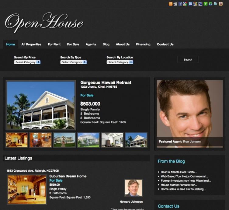 Open House Real House WordPress Theme by gorilla theme