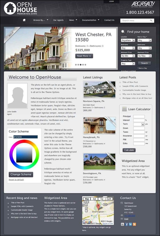 OpenHouse Real Estate WordPress Theme (by Themeforest )
