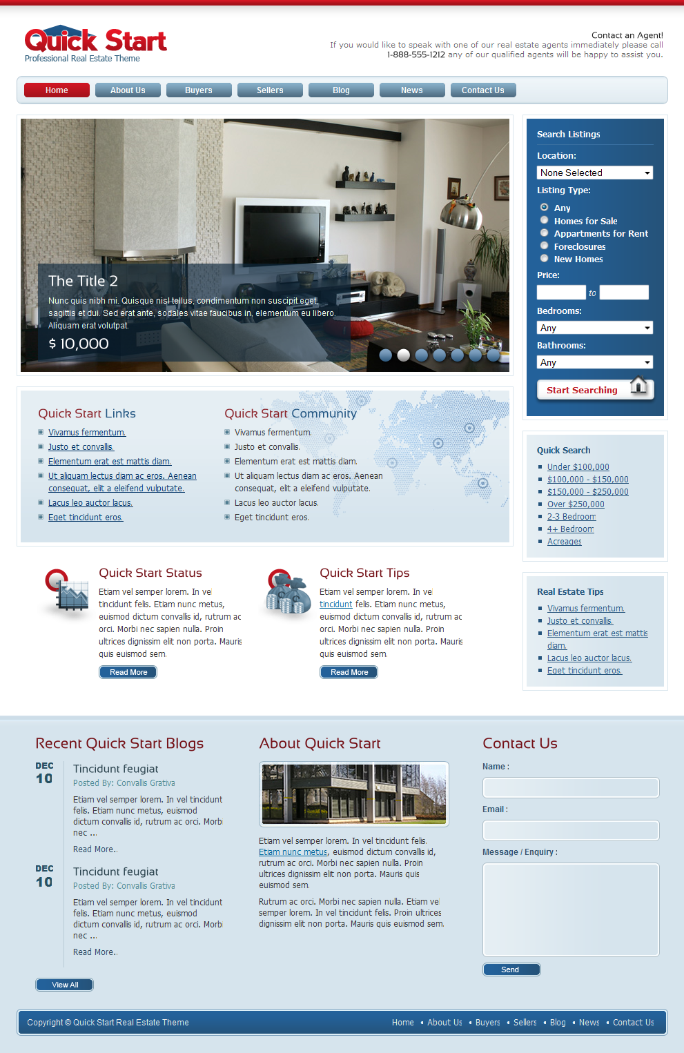 Quick Start Real Estate by themeforest