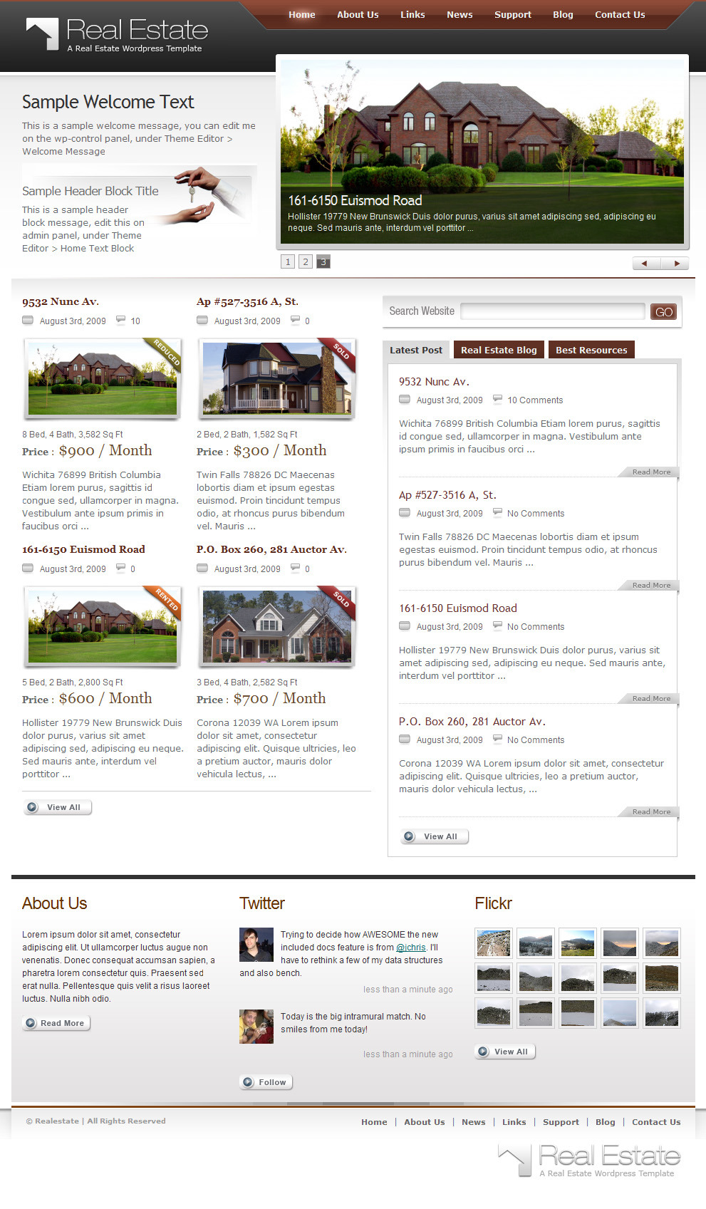 Real Estate Theme by themeforest.net
