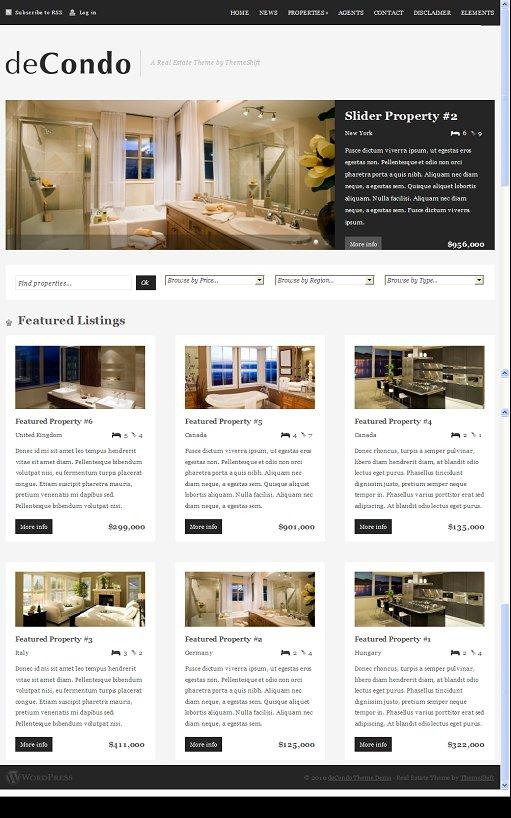 Real Estate WordPress Theme decondo