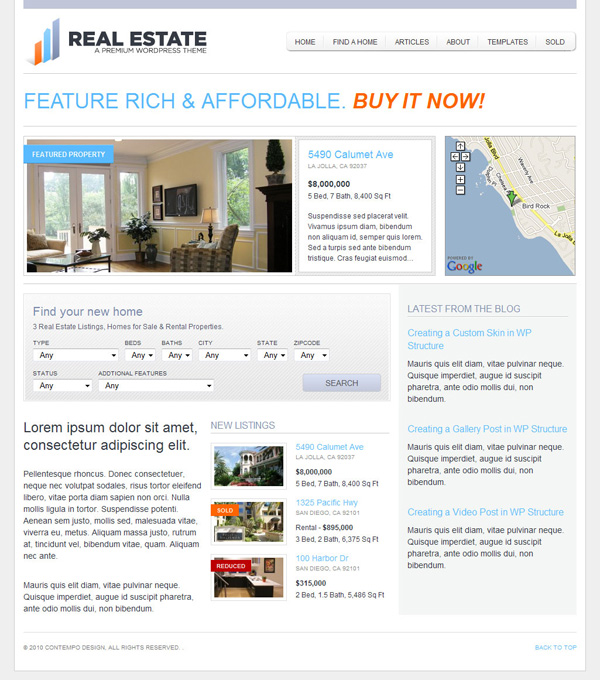 WP Pro Real Estate 2 WordPress Theme by themeforest
