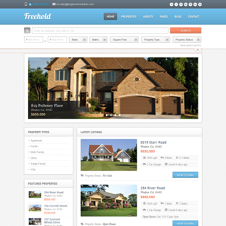freehold-real-estate-wordpress-theme