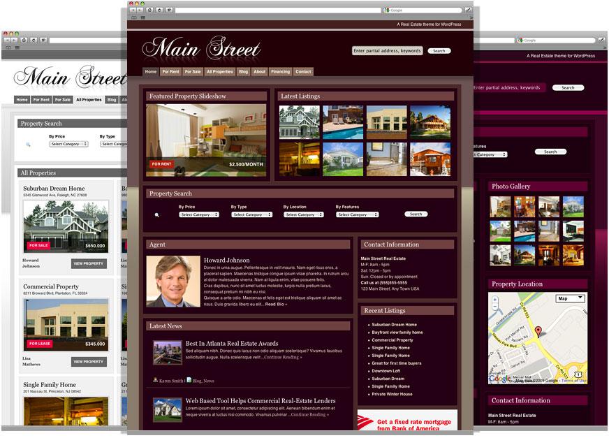 mainstreettheme real estate wordpress theme