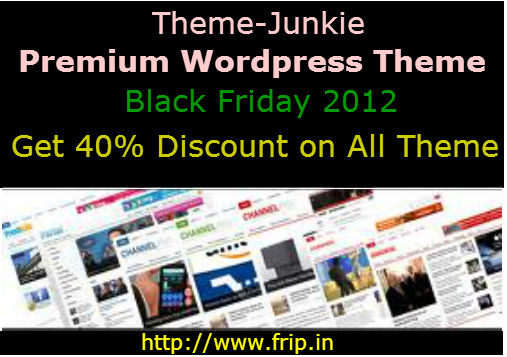 themejunkie black friday and cyber monday deals 2012 40  discount