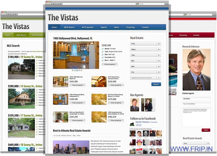 thevistas wordpress real estate theme