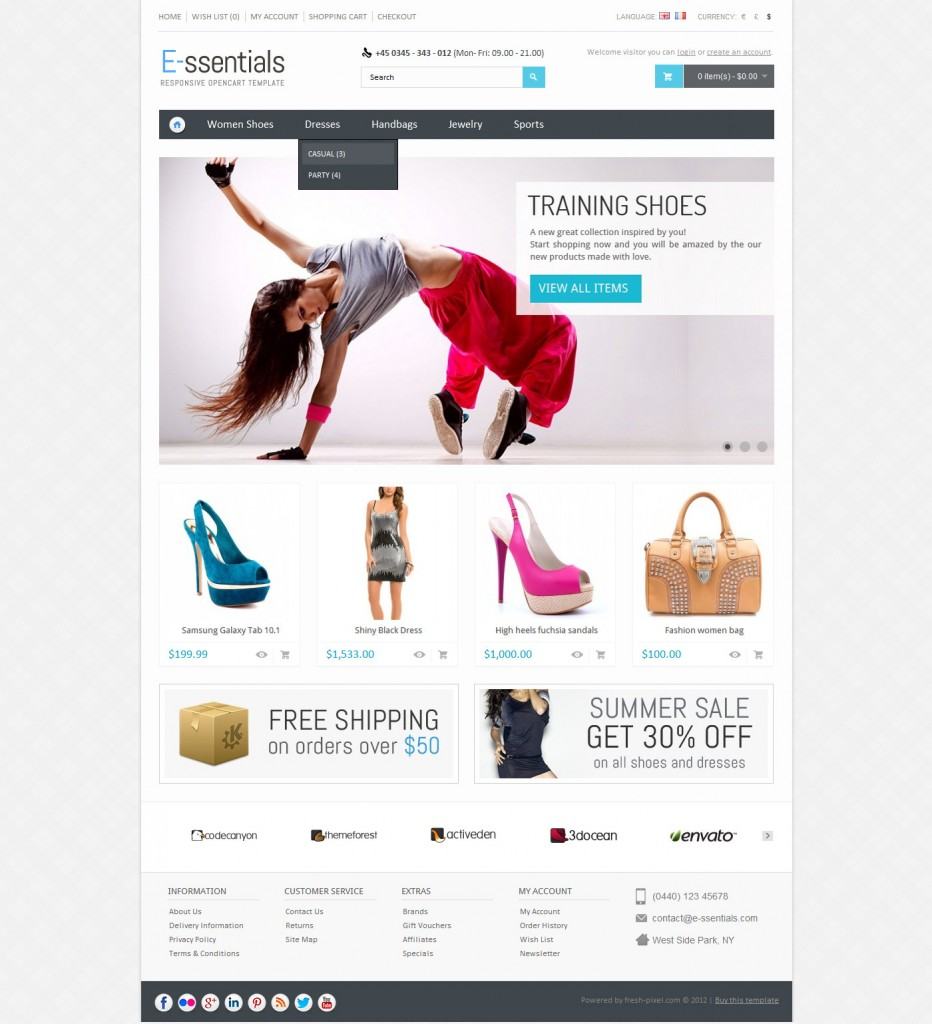 Essentials  Responsive Opencart Theme