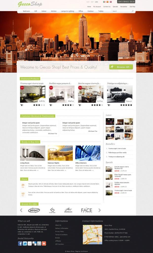Gecco Shop open cart theme