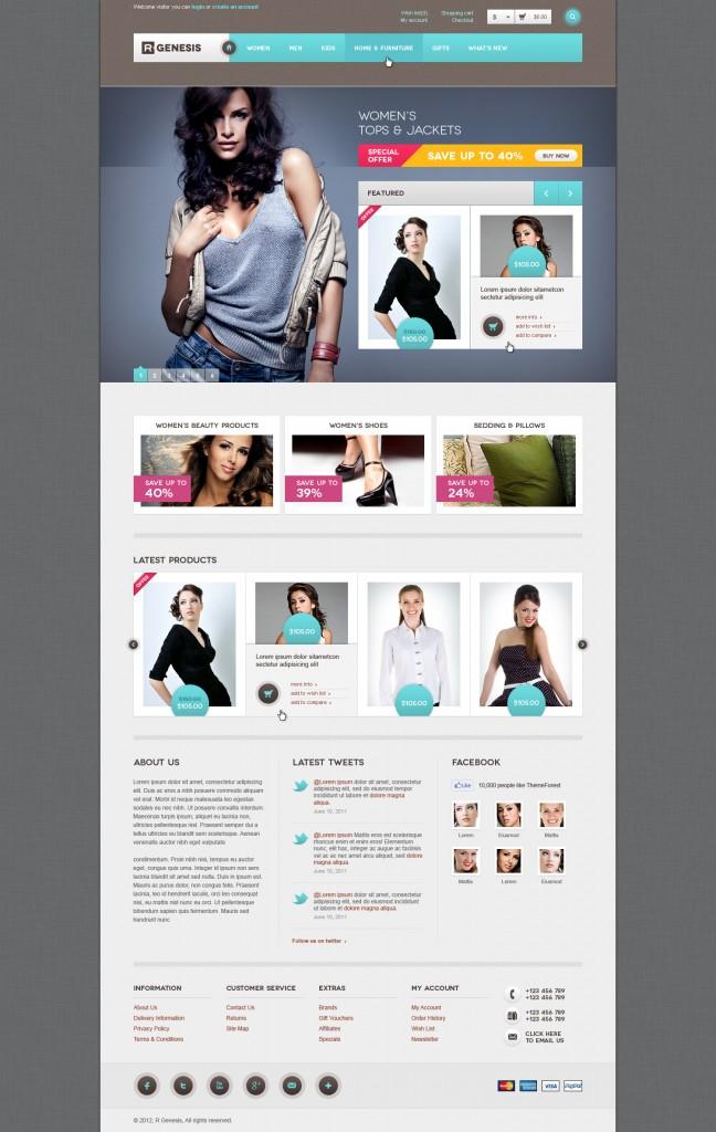 R.Gen OpenCart Modern Store Design