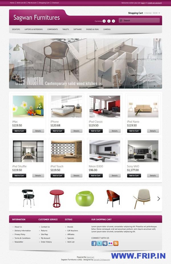 Sagwan Furnitures Opencart Theme