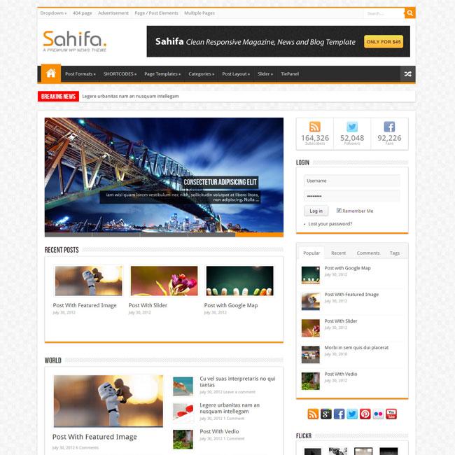 Sahifa Responsive Blog & Magazine Theme