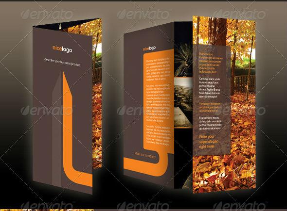 A4-Tri-Fold Brochure-Minimal-Stylish-Indesign-photoshop- template