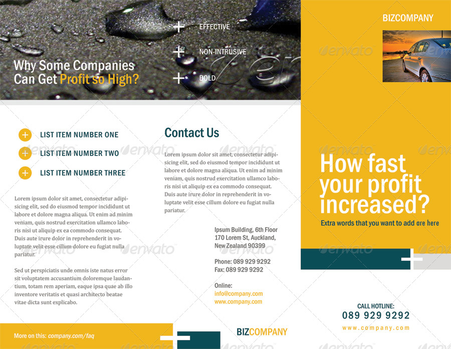 Clean Corporate Brochure - Trifold
