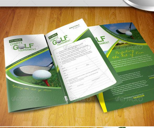 Golf Tournament Brochure Trifold + Flyer Ad
