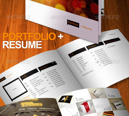 Portfolio + Resume Brochure 8 Pages