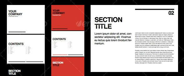 Swiss Minimal Presentation Brochure
