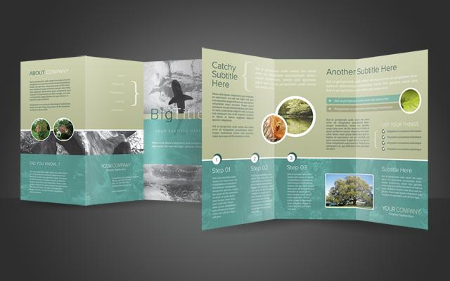 40 best corporate brochure print templates of 2013 for Photoshop tri fold brochure template free