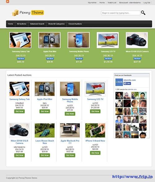 WordPress-penny-auction-theme