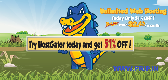Hostgator 51% discount coupon code
