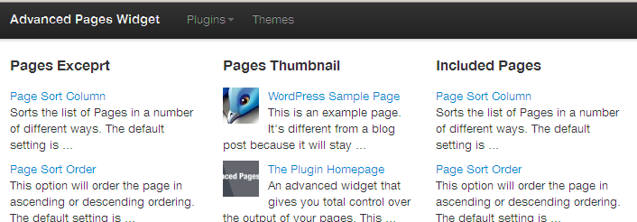 Advanced Pages Widget