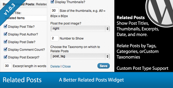 related post widget plugin