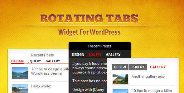tabs widget wordpres