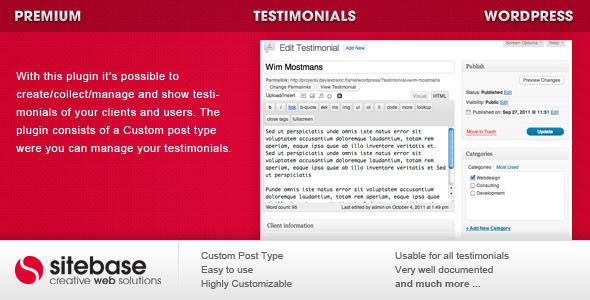 testimonial for wordpresss