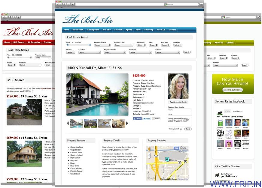 thebel air wordpress real estate theme