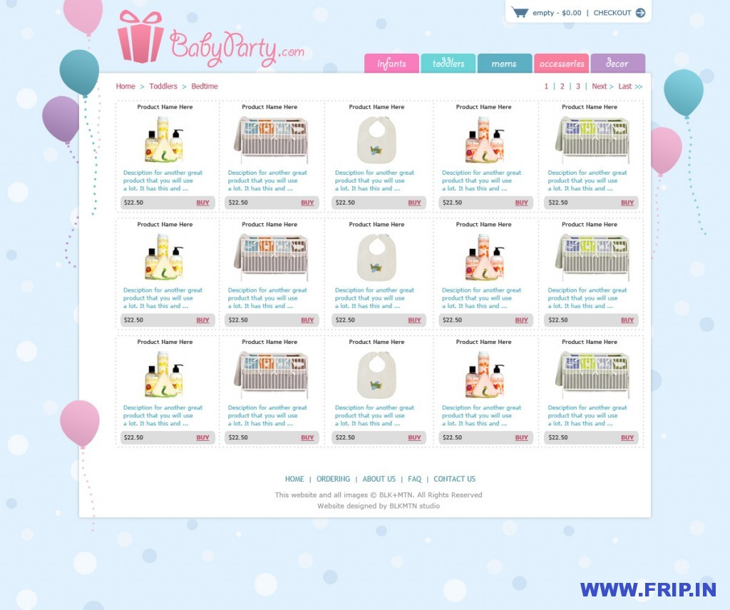 Baby Party psd template