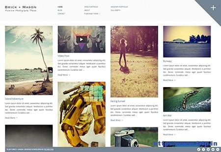 Brick Mason Premium Photography and Blog Theme
