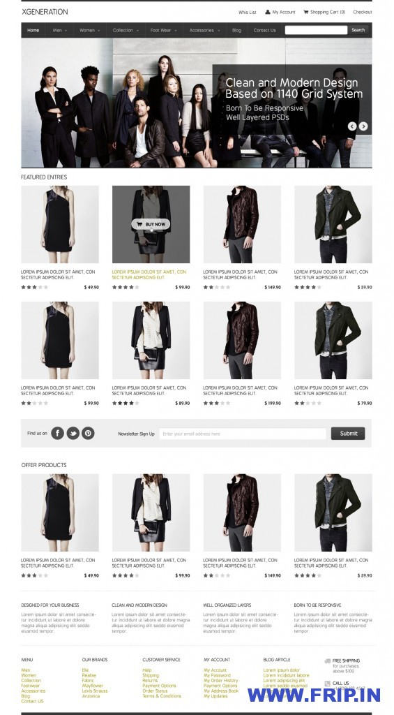 E-Commerce PSD Template