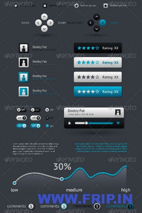 Elements of Infographics With Buttons  Menus