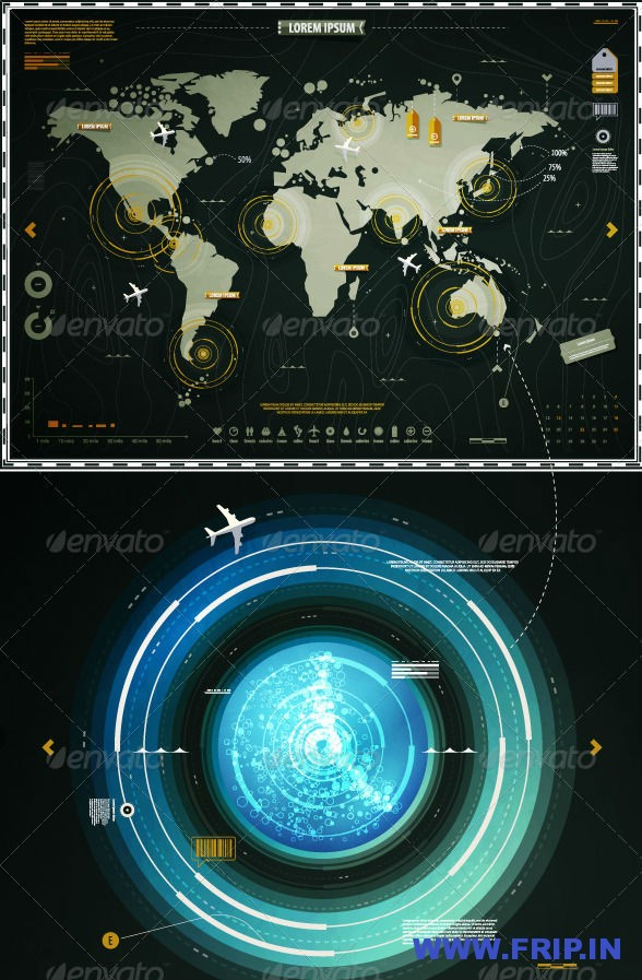 Infographic Elements of the World