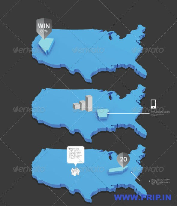 Infographic USA Map