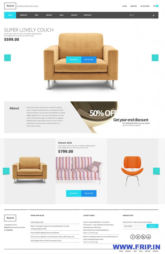 Koorsi All In One PSD Template
