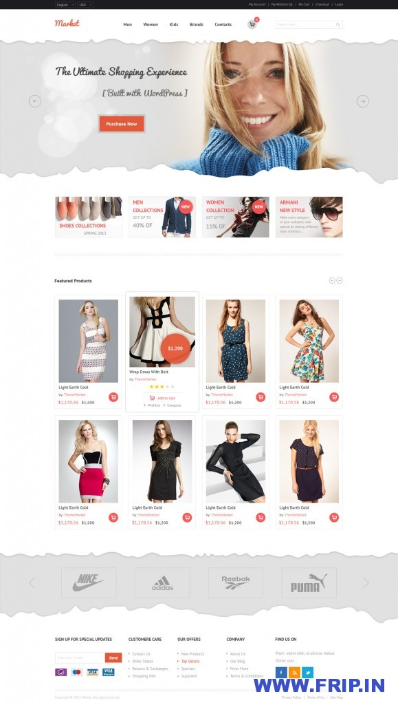 Market eCommerce Retail Shopping PSD