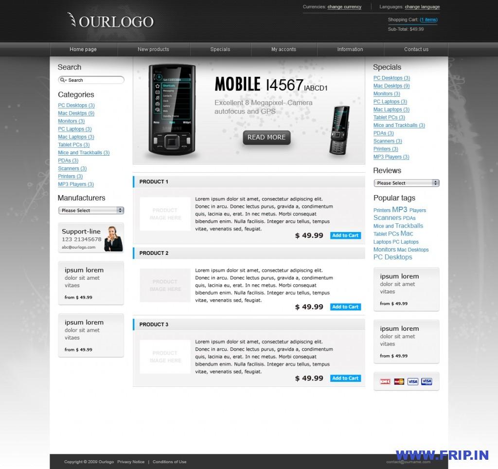 Modern eCommerce Webshop Theme