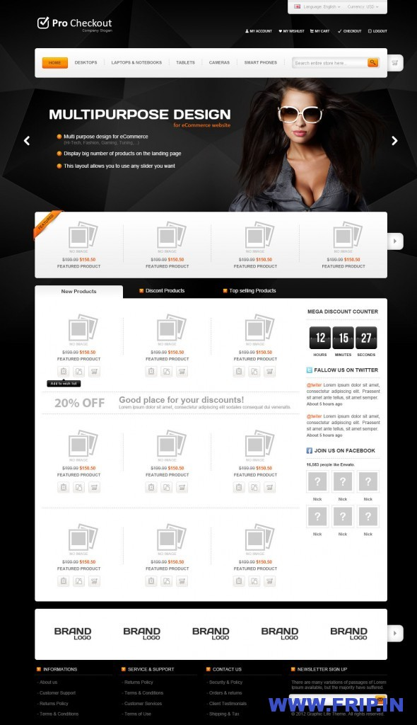 Pro Checkout eCommerce PSD Template