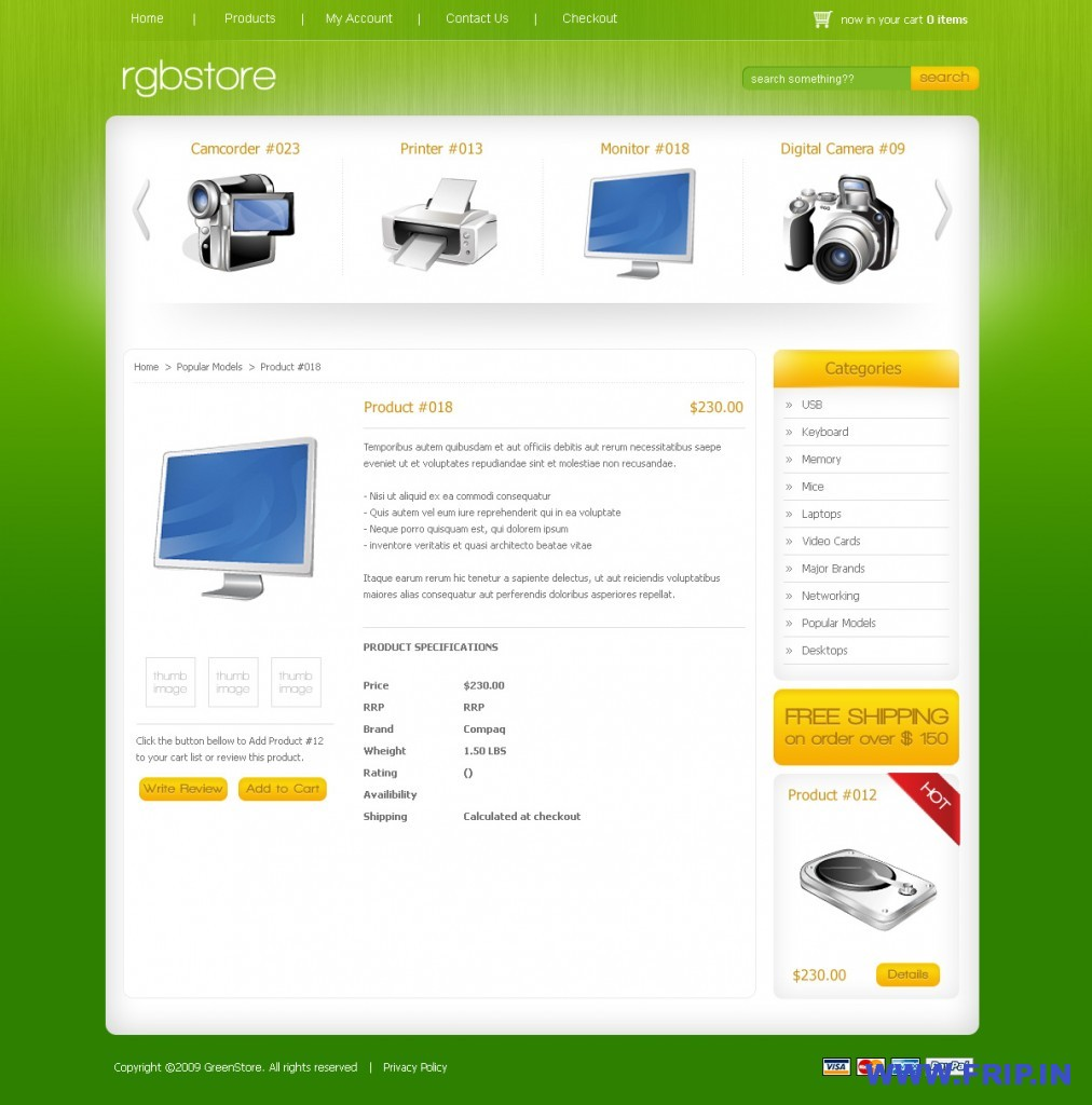 RGBStore Ecommerce PSD Template