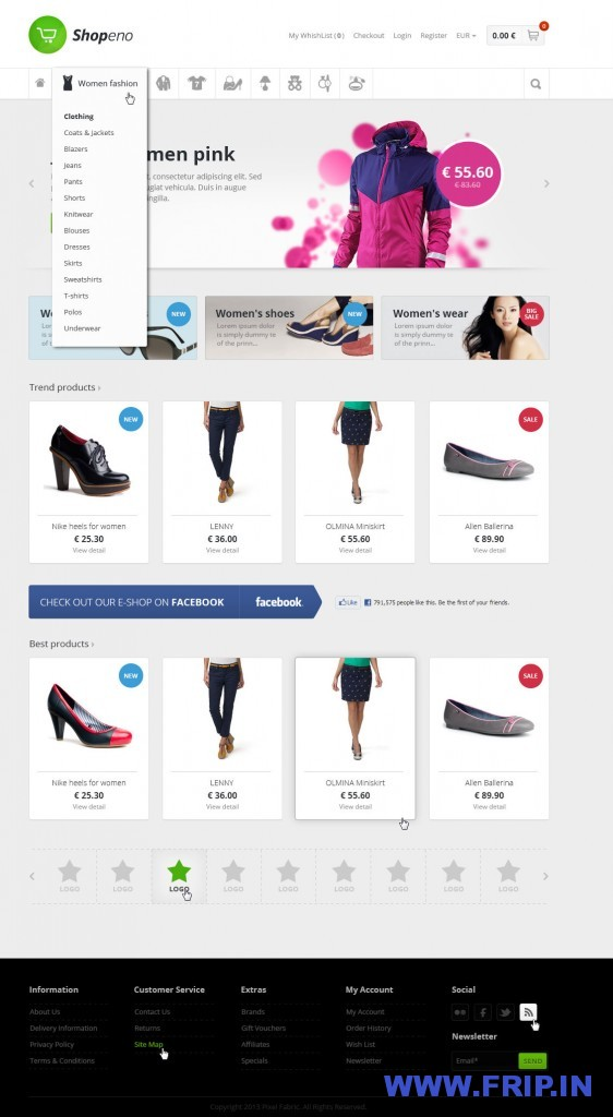Shopeno Modern Ecommerce PSD Template