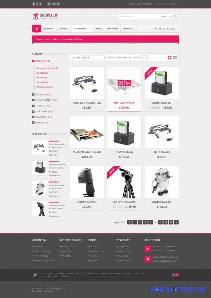 Shoploop Modern Open Cart PSD