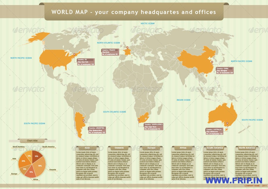 World Vectors Map