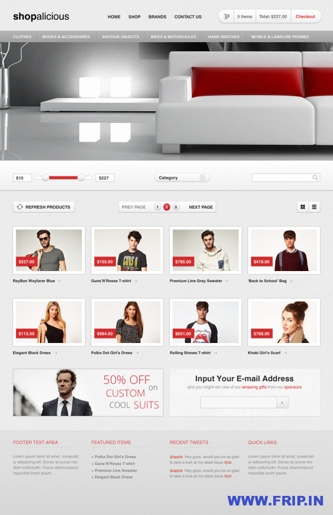 shopalicious shopping psd template