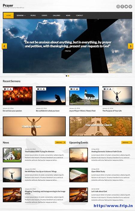 Prayer-Church-WordPress-Theme