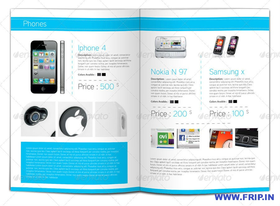 Product Showcase Indesign A4