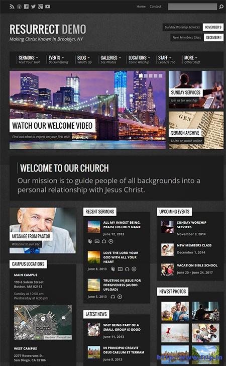Resurrect-Church-WordPress-Theme