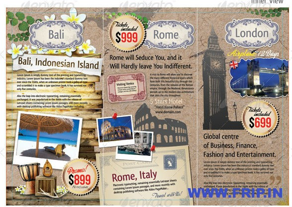 Tri-Fold Travel & Tourism